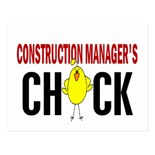 Construction Manager's  Chick Post Cards