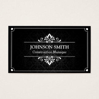 Construction Manager - Shadow of Damask Business Card