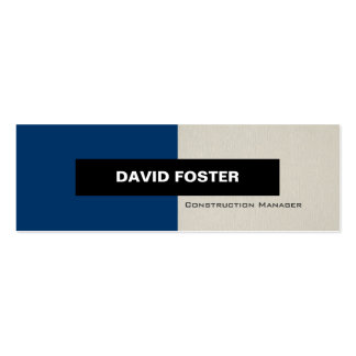 Construction Manager - Simple Elegant Stylish Double-Sided Mini Business Cards (Pack Of 20)