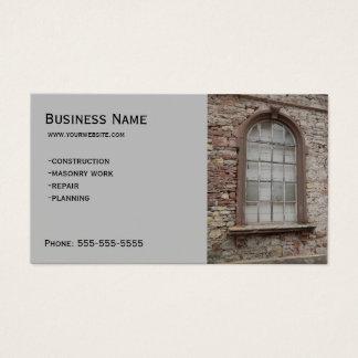 Construction - Masonry Business Card