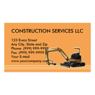 construction mechanical digger business card templates