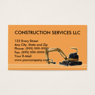 construction mechanical digger business card