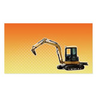 Construction Mechanical Digger Excavator Business Card Templates