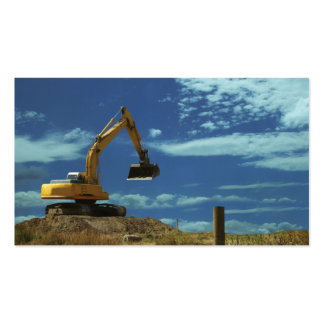 construction mechanical digger heavy equipment business cards