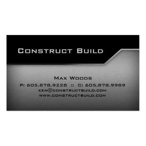 Construction Metal Business Card Angle Edge