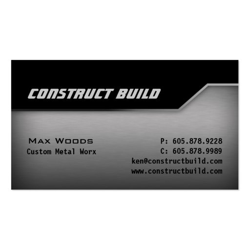 Construction Metal Business Card Angle Edge 2