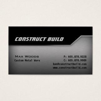 Construction Metal Business Card Angle Edge 2