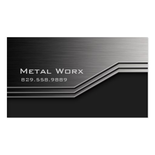 Construction Metal Business Card Angle Edge 3