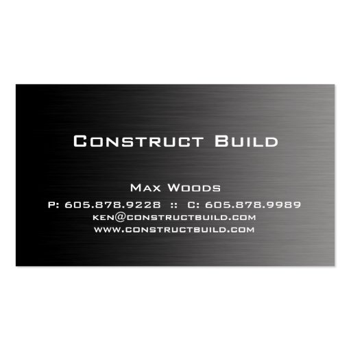 Construction Metal Business Card Professional