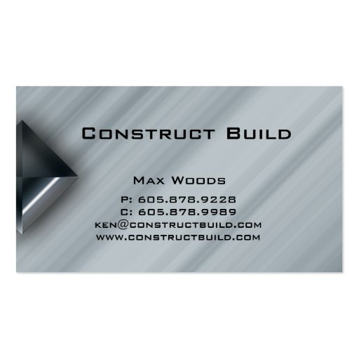 Construction Metal Business Card Professional 2