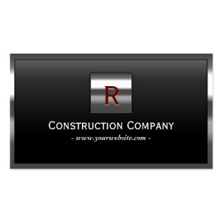 Construction Metal Framed Monogram Professional Pack Of Standard Business Cards