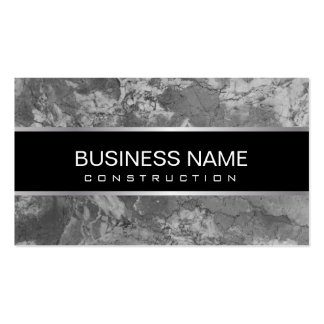 Construction Modern Black & White Marble Texture Pack Of Standard Business Cards
