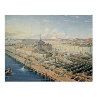 Construction of Docks Postcard