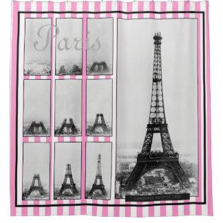 Construction of Gustav Eiffel's Tower in Paris Shower Curtain