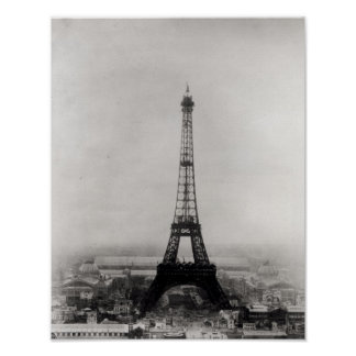 Construction of the Eiffel Tower Poster