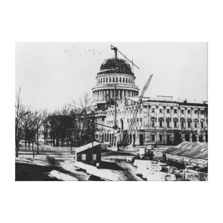 Construction of the U.S. Capitol Dome Canvas Print