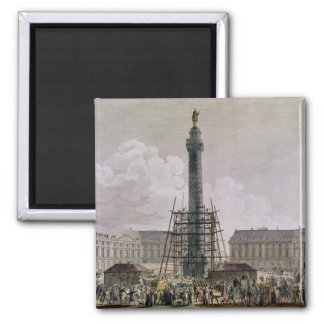Construction of the Vendome Column in 1803-10 Square Magnet