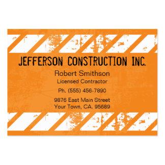 Construction Orange Large Company Business Cards