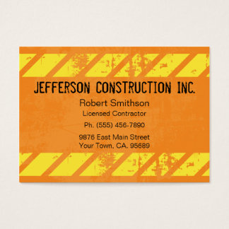 Construction Orange Large Company Business Cards