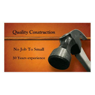 Construction Pack Of Standard Business Cards