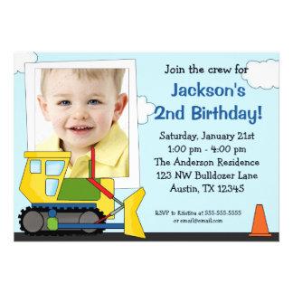 Construction Photo Birthday Party Invitations