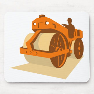 construction road roller retro mouse pad