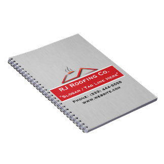 Construction Roofing Spiral Notebook