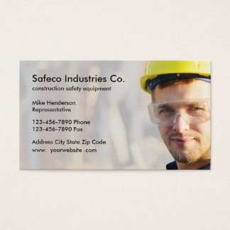 Construction Safety Equipment Business Card
