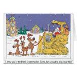 Construction Santa Sled Christmas Card