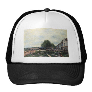 Construction Site at Saint Mammes by Alfred Sisley Cap