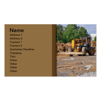 construction site pack of standard business cards
