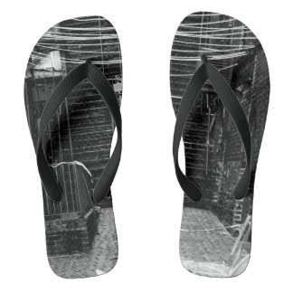 Construction Site Photograph On Flip flops