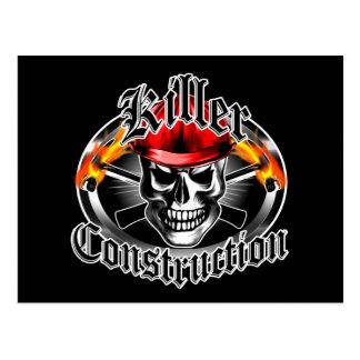 Construction Skull 3: Killer Construction Postcard