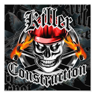 Construction Skull With Red Hard Hat Art Photo