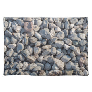 construction stones in the quarry place mat