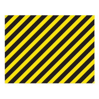 Construction Stripes Diagonal Postcard