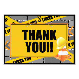 Construction Thank You Cards 9 Cm X 13 Cm Invitation Card