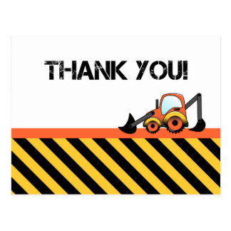 Construction Thank You Cards Postcard