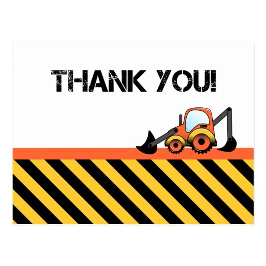 Construction Thank You Cards Postcard Zazzle