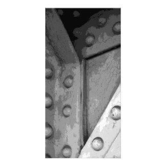 Construction Theme Digital Art. Custom Photo Card