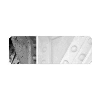 Construction Theme Digital Art. Return Address Label