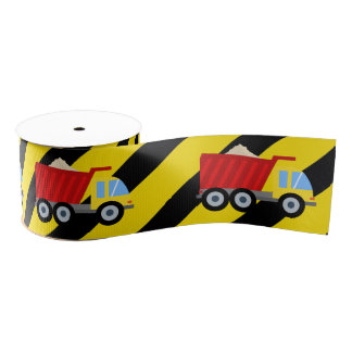 Construction Themed Birthday Party Grosgrain Ribbon
