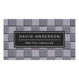 Construction Tile Installer Stylish Easy Customize Pack Of Standard Business Cards