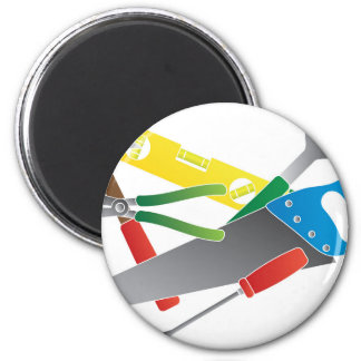 Construction Tools Colors Illustration Magnet