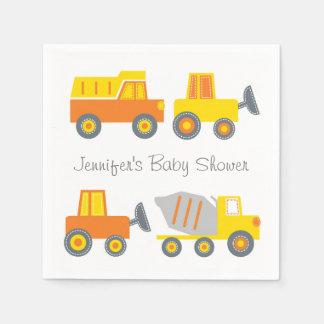 Construction Truck Baby Shower Disposable Serviettes