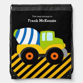 Construction Truck Drawstring Bag