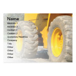 construction vehicle business card template