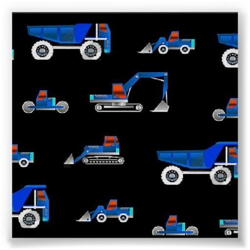construction vehicle s posters