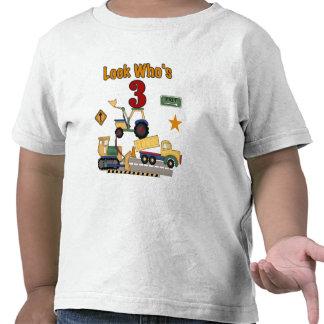 Construction Vehicles 3rd Birthday Tshirts