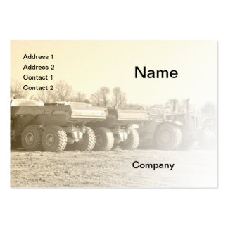 construction vehicles business card templates